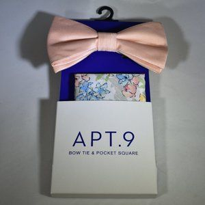 Apt. 9 NWT Bow Tie & Pocket Square Set Peachtree